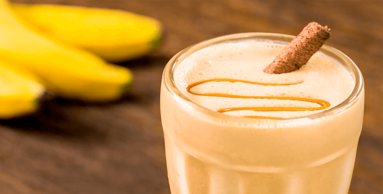 Malteada de café y banano