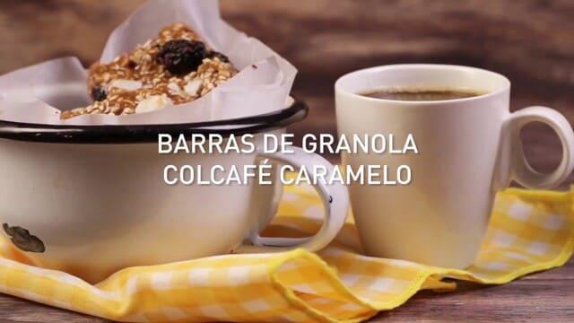 Barras de granola Colcafé Caramelo